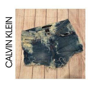{Calvin Klein Jeans} Bleach Dye Distressed…